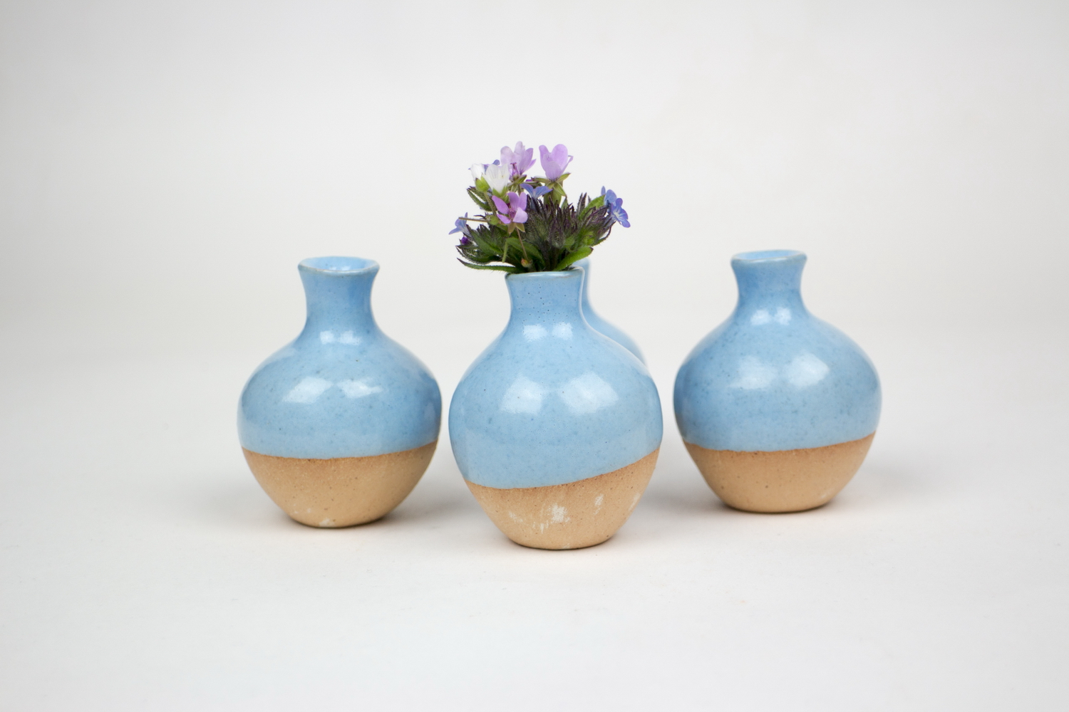 Handmade Blue Small Ceramic Glazed Pitcher Small Flower Ceramic Vases Blue Potterash Com